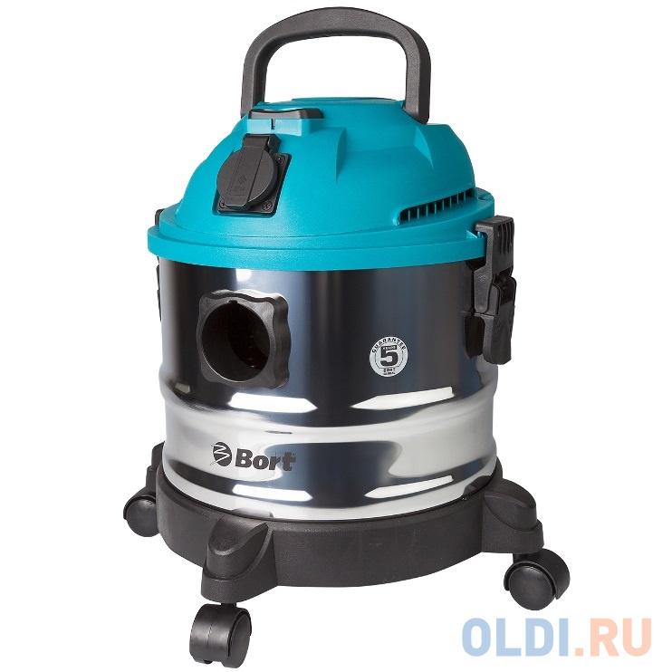 Пылесос для сухой и влажной уборки Bort BSS-1015, 1250/250 Вт., функции: автоотключение, выдув, сбор жидкости