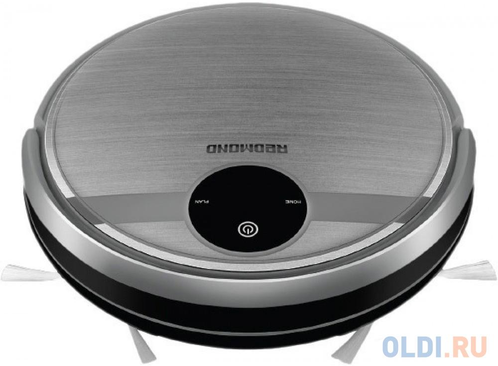 Робот-пылесос Redmond RV-R500 сухая влажная уборка серебристый черный