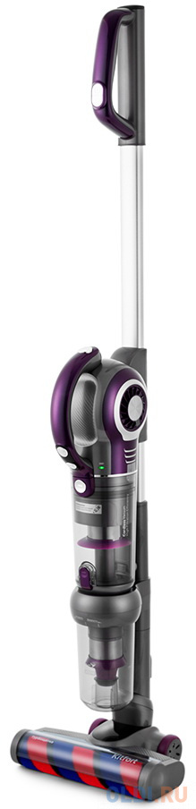 Фото - Пылесос KITFORT КТ-551 сухая уборка серый фиолетовый ручной пылесос handstick kitfort кт 551 400вт серый фиолетовый