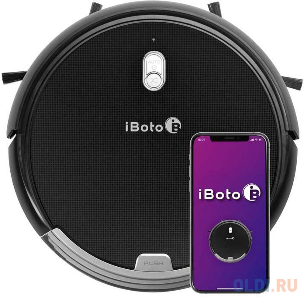 Робот-пылесос iBoto X615GW сухая влажная уборка серый чёрный