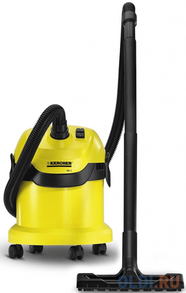 Пылесос Karcher WD2 сухая уборка жёлтый 1.629-760.0.