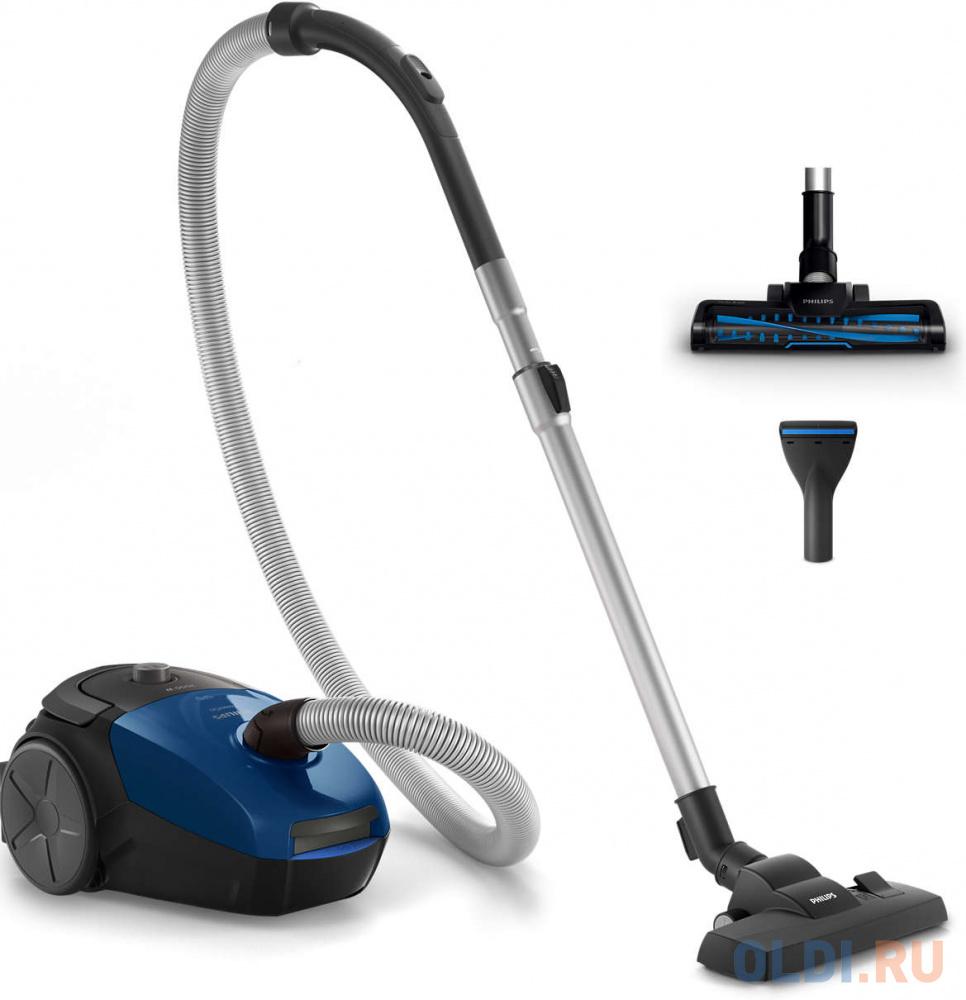 Пылесос Philips FC8296/01 сухая уборка синий чёрный пылесос philips fc9150 02 с мешком сухая уборка 2000вт синий