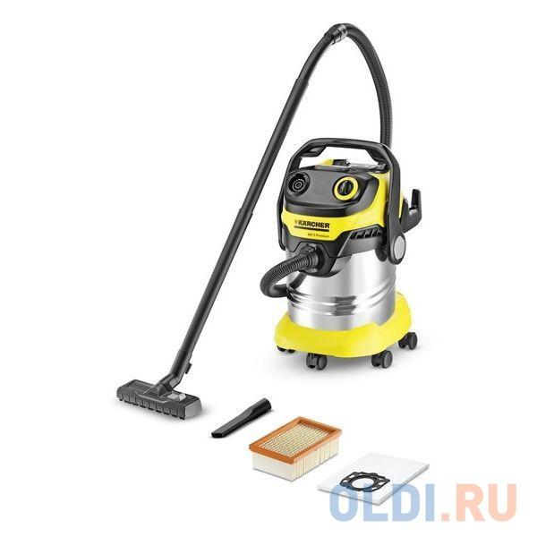 Пылесос Karcher WD 5 Premium EU-I сухая/влажная уборка 1800 Вт. с мешком+циклонный фильтр 25 л. набор насадок.