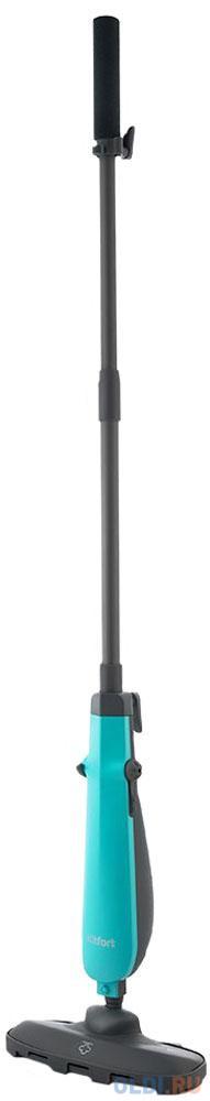 1011-3-КТ Паровая швабра Kitfort Мощность: 1100Вт.Ёмкость: 0,25 л.Длина шнура: 4 м,бирюзовый. паровая швабра ariete steam and sweeper 2706 белый бирюзовый