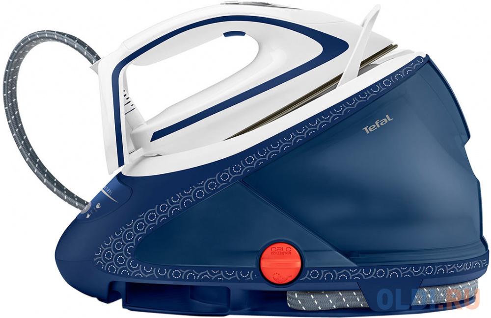 Парогенератор Tefal Pro Express Ultimate Care GV9580 2600Вт синий белый парогенератор tefal gv9563 синий белый