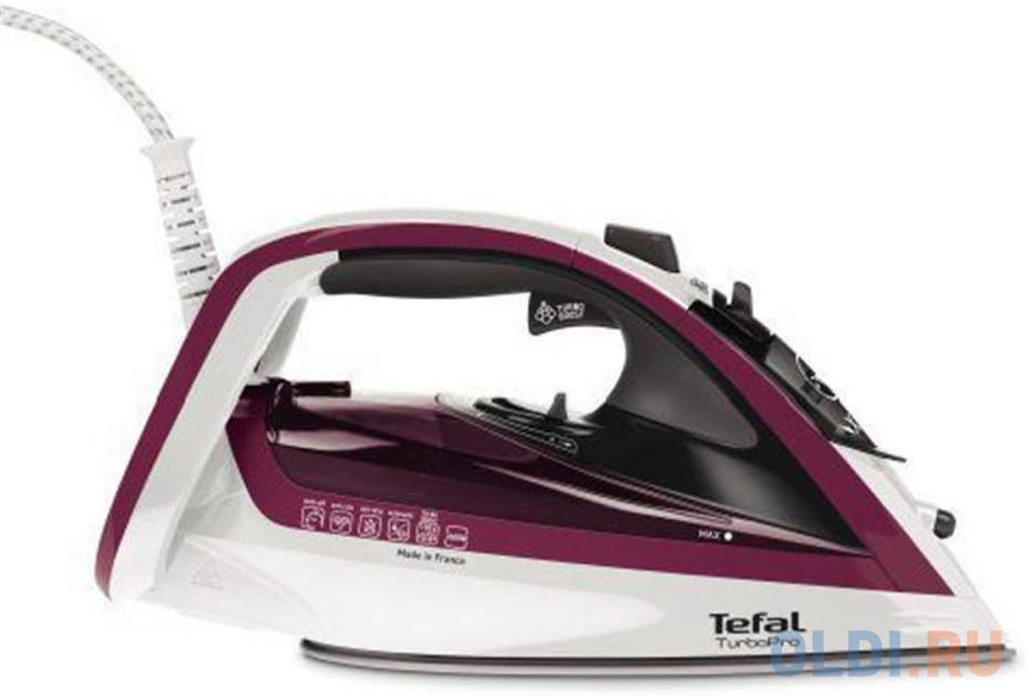 Утюг Tefal FV5605E0 2600Вт белый/бордовый недорого