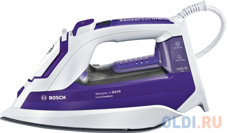 Утюг Bosch TDA752422V 2400Вт фиолетовый белый фото