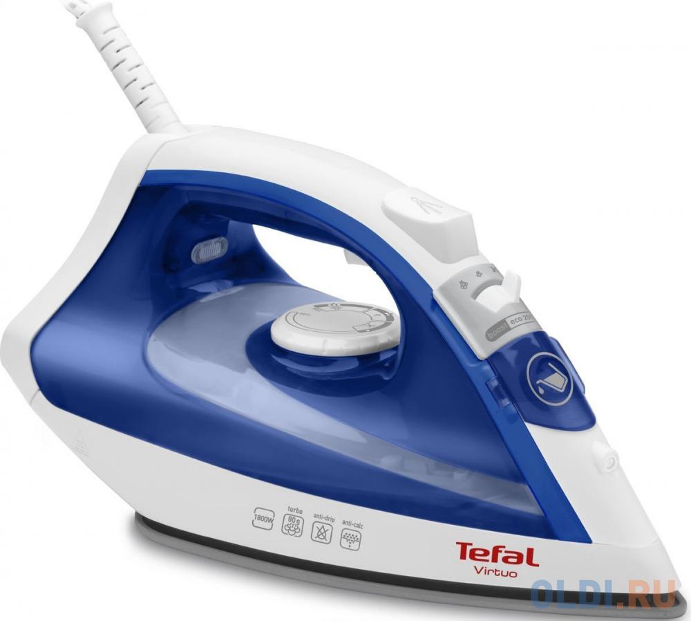Утюг Tefal FV1711E0 1800Вт белый синий недорого