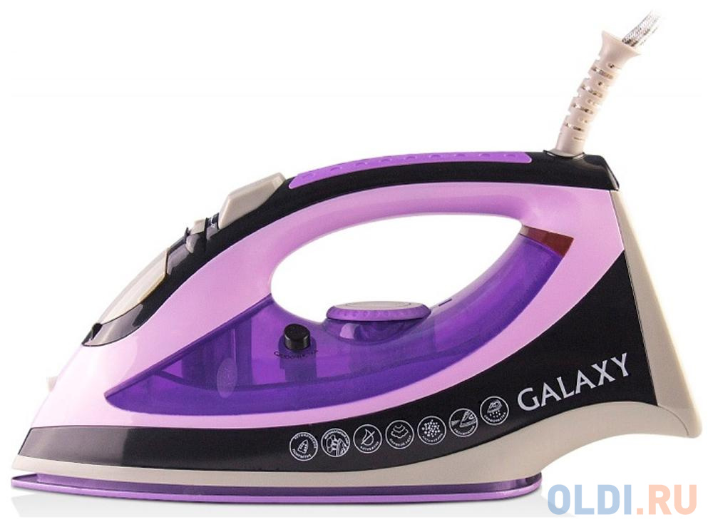 Фото - Утюг GALAXY GL6110 2200Вт белый фиолетовый утюг galaxy gl6109 зеленый белый серый