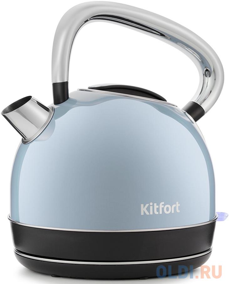 Чайник электрический KITFORT КТ-696-2 2150 Вт голубой 1.7 л металл фото