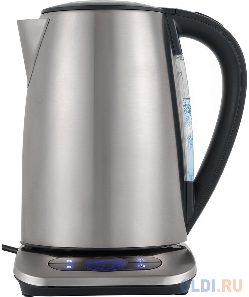 Чайник электрический Polaris PWK 1788CAD 2200 Вт серебристый 1.7 л нержавеющая сталь чайник kenwood zjm401tt 2200 вт 1 6 л нержавеющая сталь серебристый