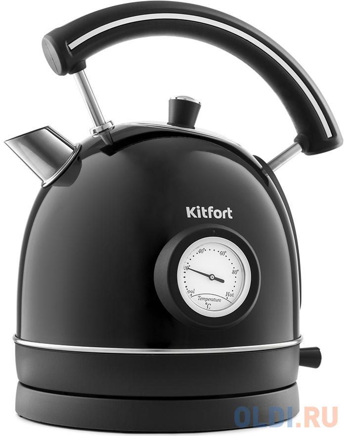 Чайник электрический KITFORT KT-688-2 2200 Вт чёрный 1.8 л нержавеющая сталь чайник kitfort kt 642 1 2200 вт розовый чёрный 1 7 л металл пластик