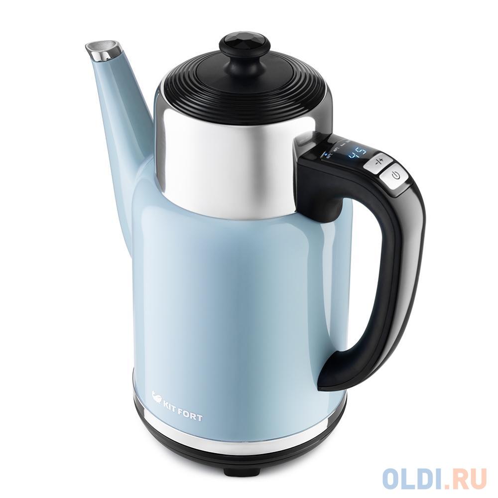 Фото - Чайник электрический KITFORT КТ-668-5 1785 Вт голубой 1.7 л металл/пластик чайник электрический kitfort кт 670 4 2200 вт голубой 1 7 л металл пластик