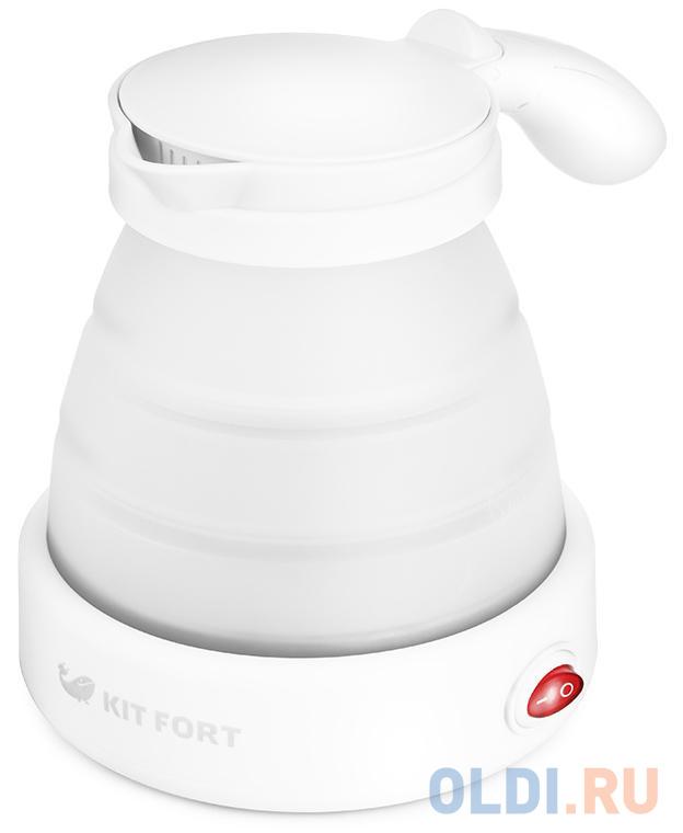 Фото - Чайник электрический KITFORT КТ-667-1 1150 Вт белый 0.6 л пластик чайник электрический kitfort кт 667 1 1150вт белый