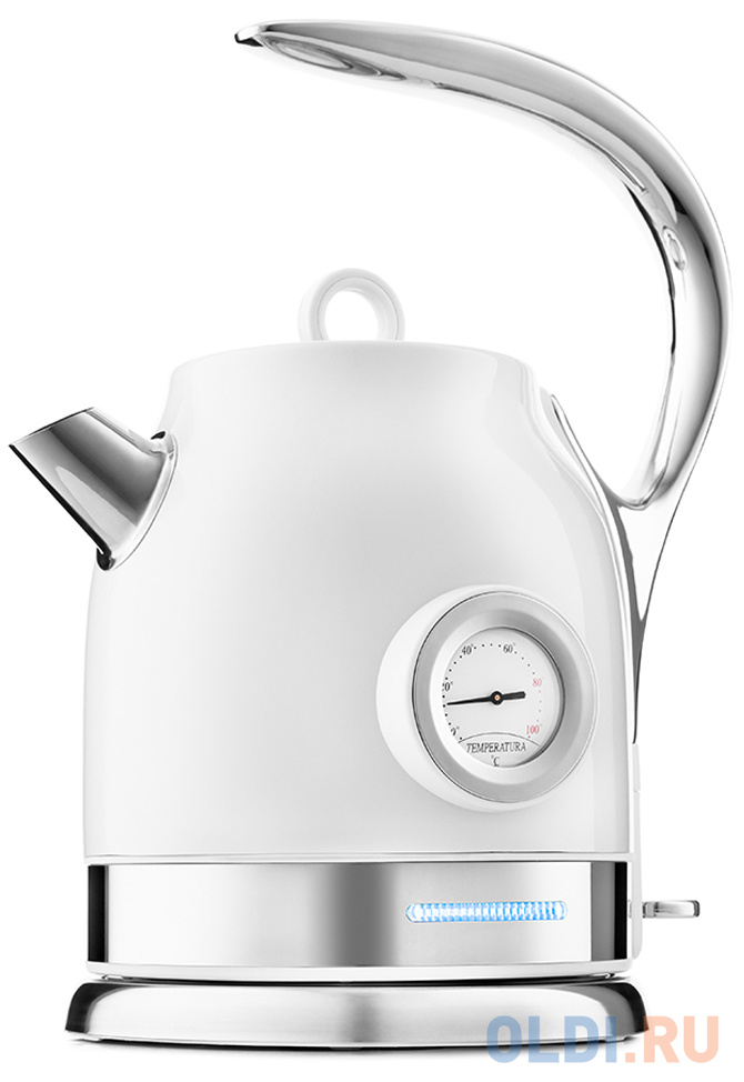 Чайник электрический KITFORT КТ-694-1 2200 Вт белый 1.7 л нержавеющая сталь чайник электрический kitfort кт 636 2200 вт серебристый 1 л нержавеющая сталь