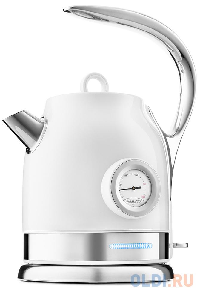 Фото - Чайник электрический KITFORT КТ-694-1 2200 Вт белый 1.7 л нержавеющая сталь чайник электрический kitfort кт 667 1 1150вт белый
