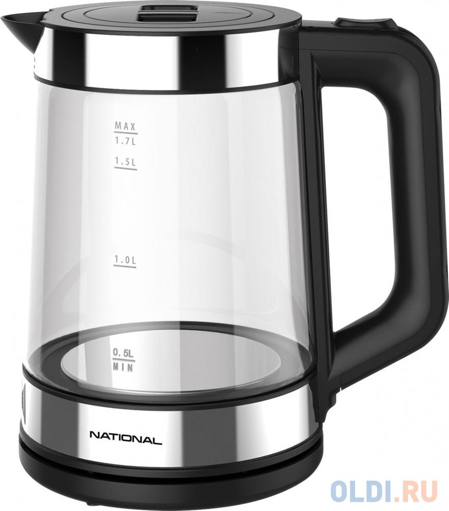 Чайник National NK-KE17322 2200 Вт чёрный 1.7 л пластик/стекло
