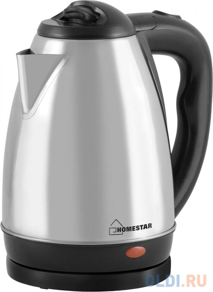 Чайник Homestar HS-1001 1500 Вт серебристый чёрный 1.8 л нержавеющая сталь фото