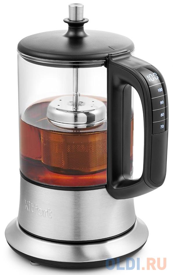 Чайник электрический KITFORT KT-6108 1100 Вт серебристый 0.5 л металл/стекло чайник электрический bosch twk7090b 2200 вт серебристый 1 5 л металл стекло