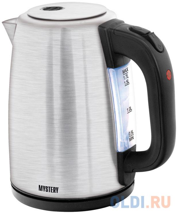 Чайник электрический MYSTERY MEK-1645 2000 Вт серебристый 1.7 л нержавеющая сталь.