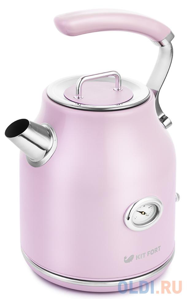 Чайник электрический KITFORT КТ-663-3 2200 Вт розовый 1.7 л металл чайник kitfort кт 623 2200 вт серебристый 1 5 л металл стекло