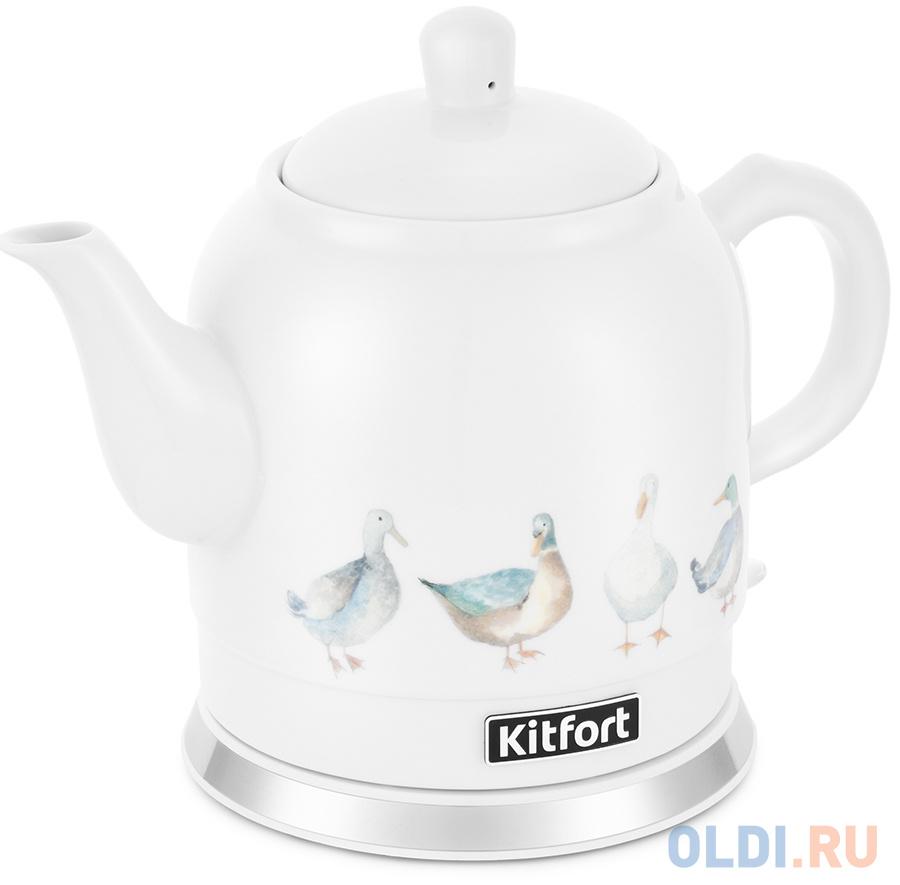 Фото - Чайник электрический KITFORT КТ-691-2 1800 Вт белый рисунок 1.2 л керамика чайник электрический kitfort кт 667 1 1150вт белый