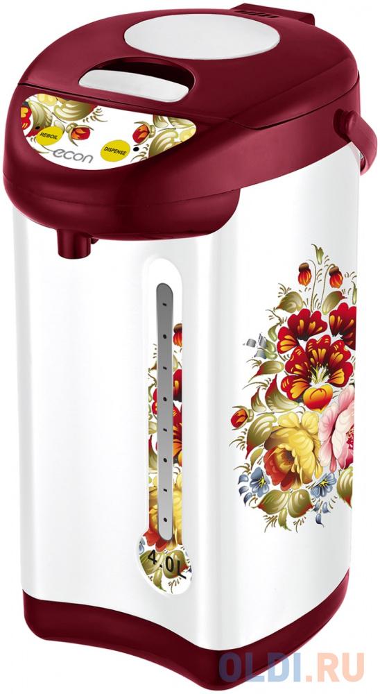 Термопот ECON ECO-400TP 600 Вт 4 л 3 режима подачи воды металл белый с красным.