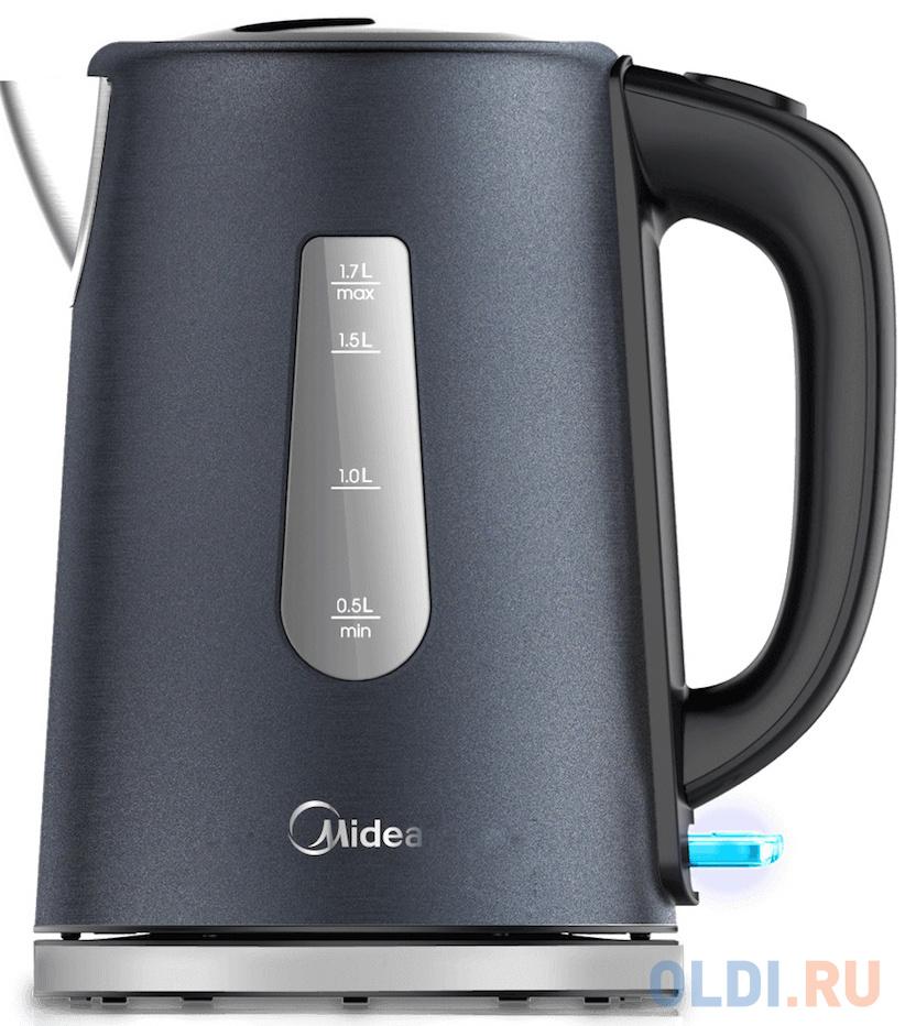 Чайник электрический Midea MK-8060 2200 Вт темно-фиолетовый 1.7 л нержавеющая сталь чайник электрический midea mk 8060 2200вт темно фиолетовый