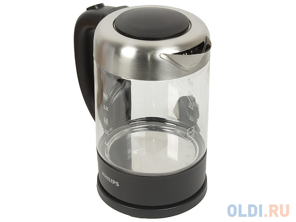 Чайник Philips HD 9340/90 2200 Вт чёрный 1.5 л металл/стекло электрический чайник philips hd 4677 50 hd 4677 50