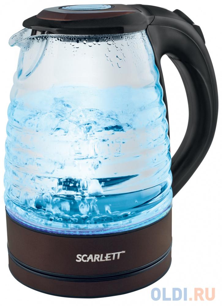 Фото - Чайник Scarlett SC-EK27G97 2200 Вт чёрный 1.7 л стекло чайник scarlett sc ek27g97 1 7l