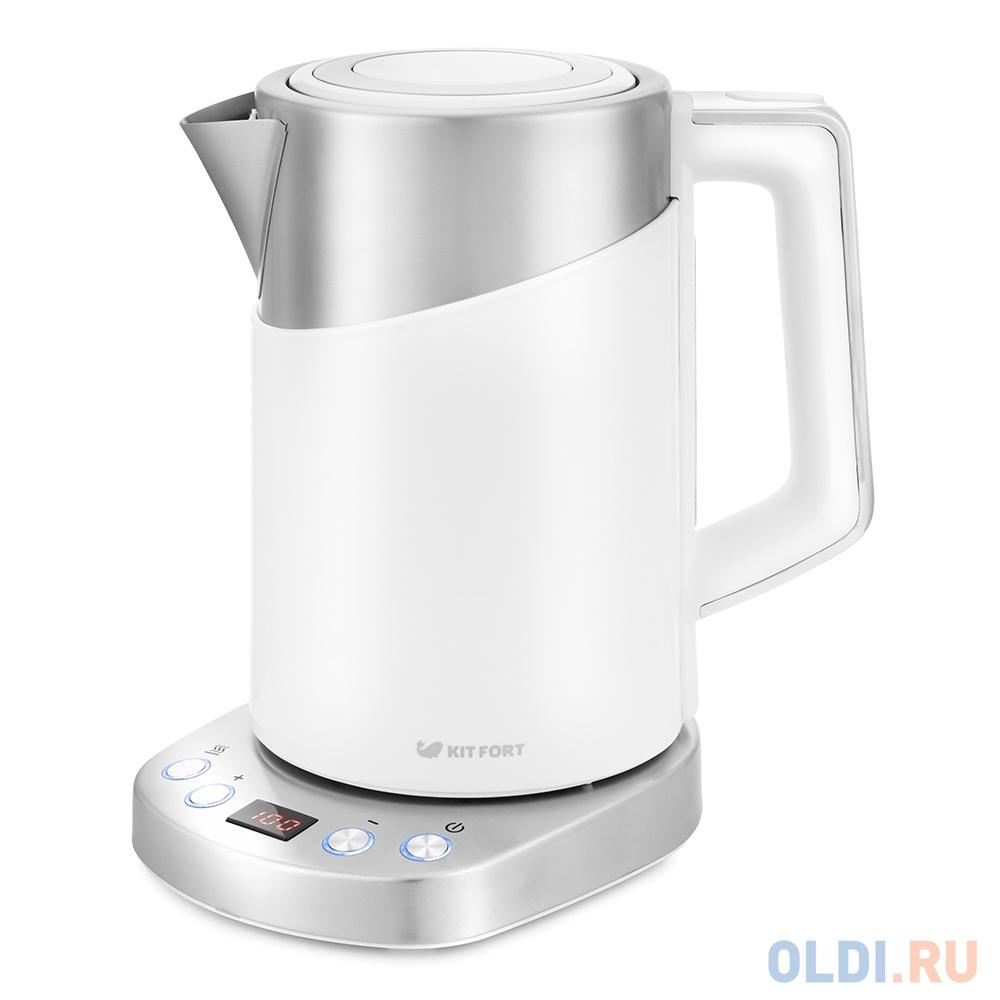 Фото - Чайник электрический Kitfort КТ-660-1 1.7л. 2200Вт белый (корпус: пластик) чайник электрический kitfort кт 667 1 1150вт белый