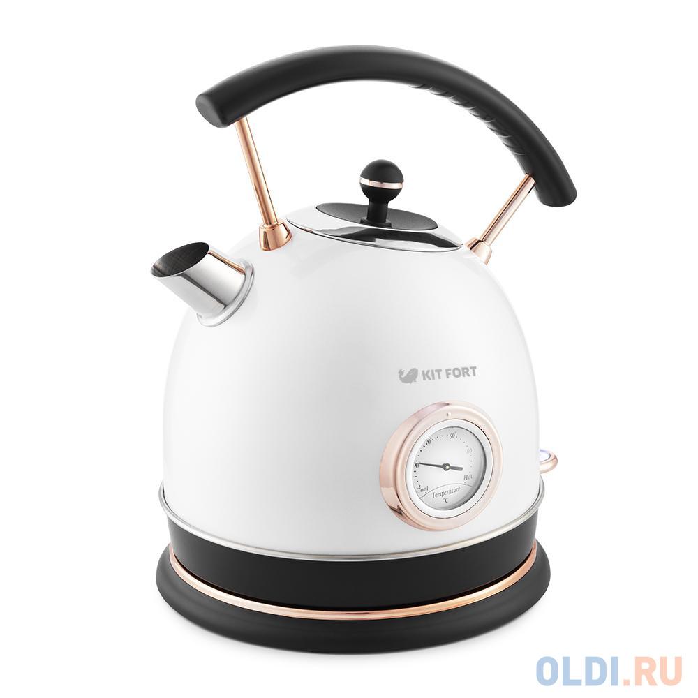 Картинка для 664-1-КТ Чайник Kitfort.Мощность: 1800–2150 Вт.Ёмкость чайника: 1,8 л.белый жемчуг.