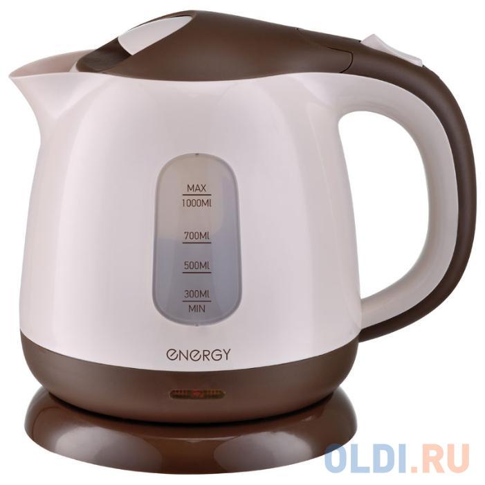 Чайник электрический Energy E-275 1100 Вт коричневый 1 л пластик.