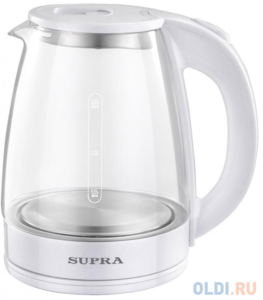 Фото - Чайник электрический Supra KES-1891 1.8л. 1500Вт белый (корпус: стекло) чайник электрический supra kes 1893 1500вт белый