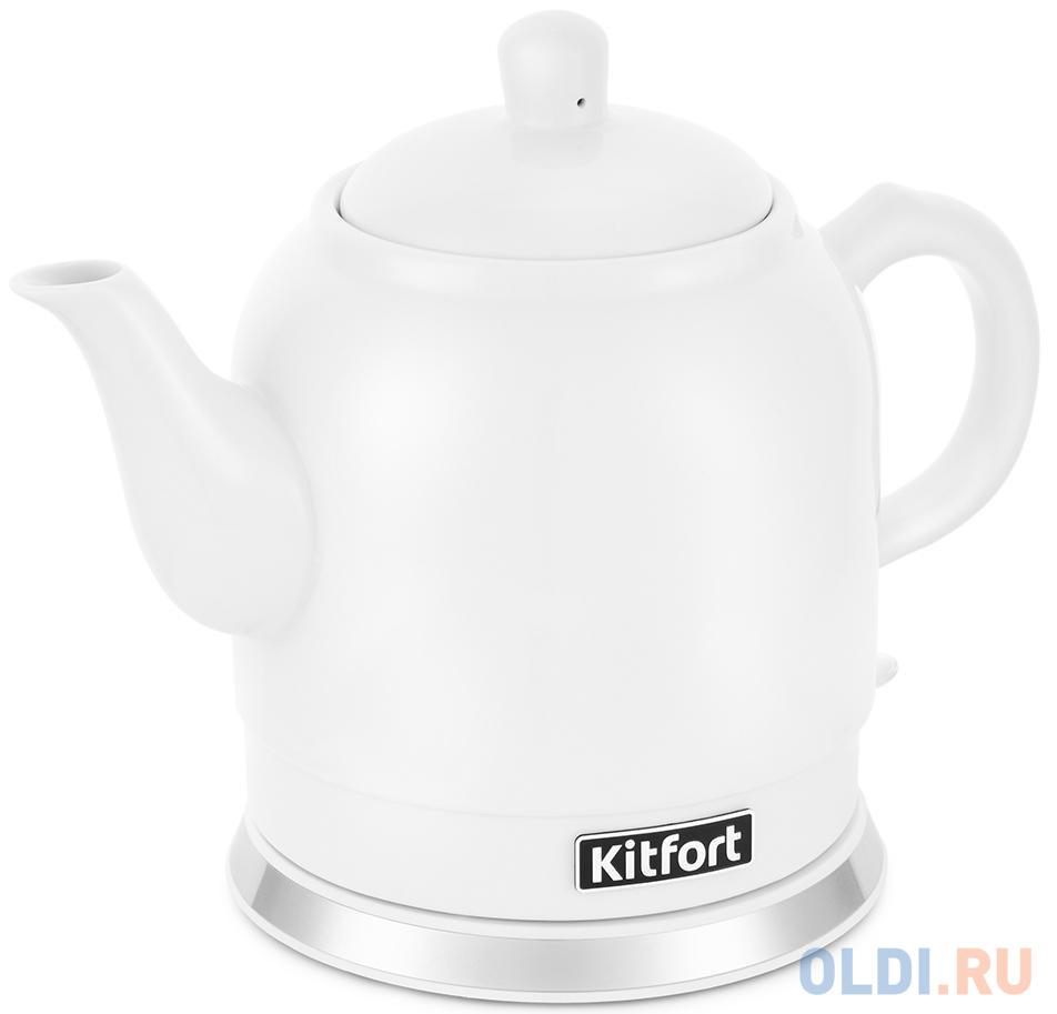 Фото - Чайник электрический KITFORT КТ-691-1 1800 Вт белый 1.2 л керамика чайник электрический kitfort кт 667 1 1150вт белый