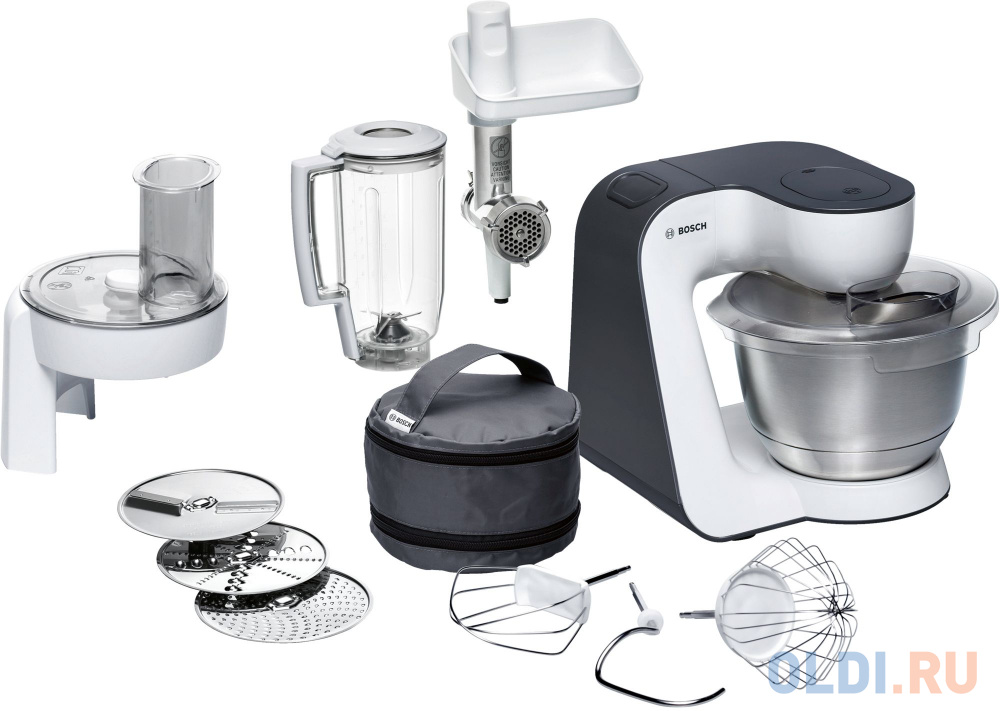 Фото - Кухонный комбайн Bosch MUM50131 черный, белый кухонный комбайн bosch mum4426 белый