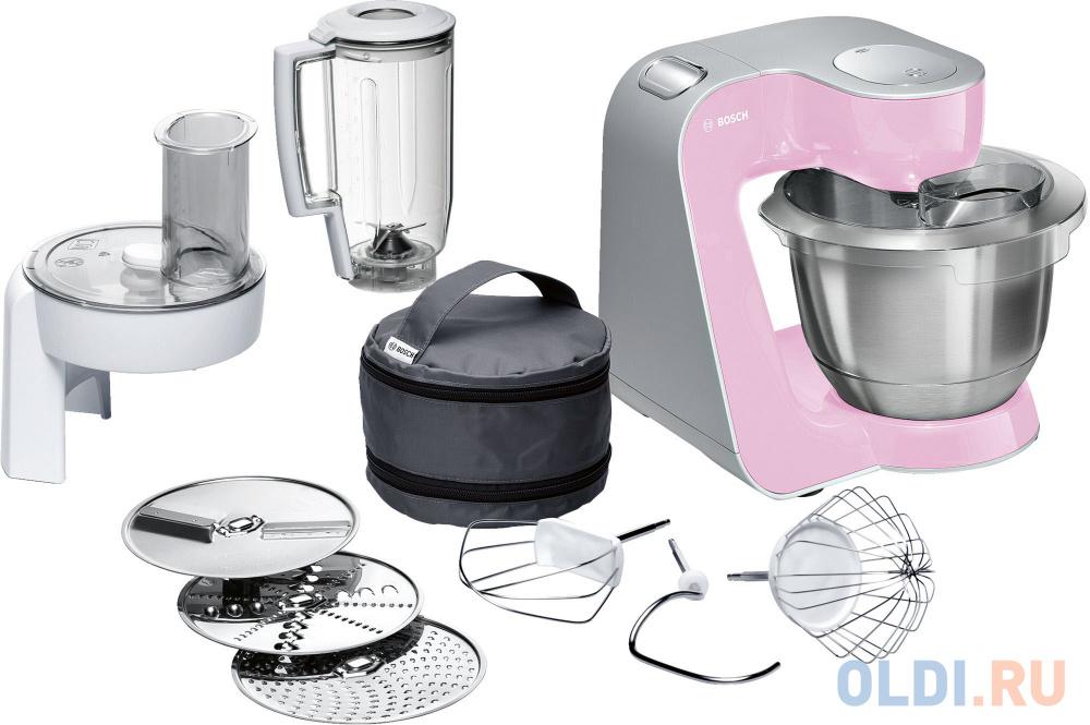 Кухонный комбайн Bosch MUM58K20 серебристо-розовый кухонный комбайн bosch mcm3110w 800вт белый