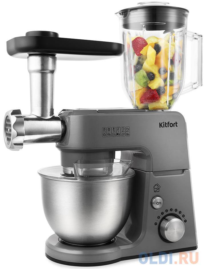 Кухонный комбайн KITFORT KT-1366-2 серый кухонный комбайн moulinex fp244110