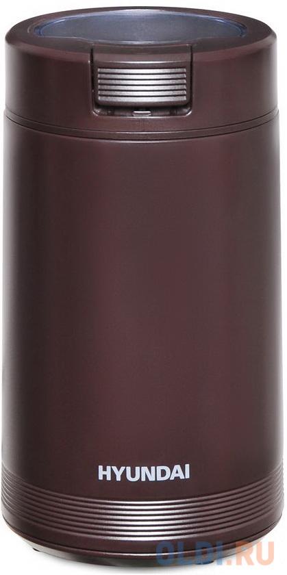 Кофемолка Hyundai HYC-G4251 200Вт сист.помол.:ротац.нож вместим.:50гр черный