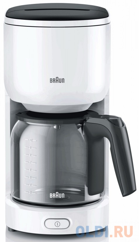 Кофеварка Braun KF 3100 1000 Вт белый кофеварка braun kf 3100 wh