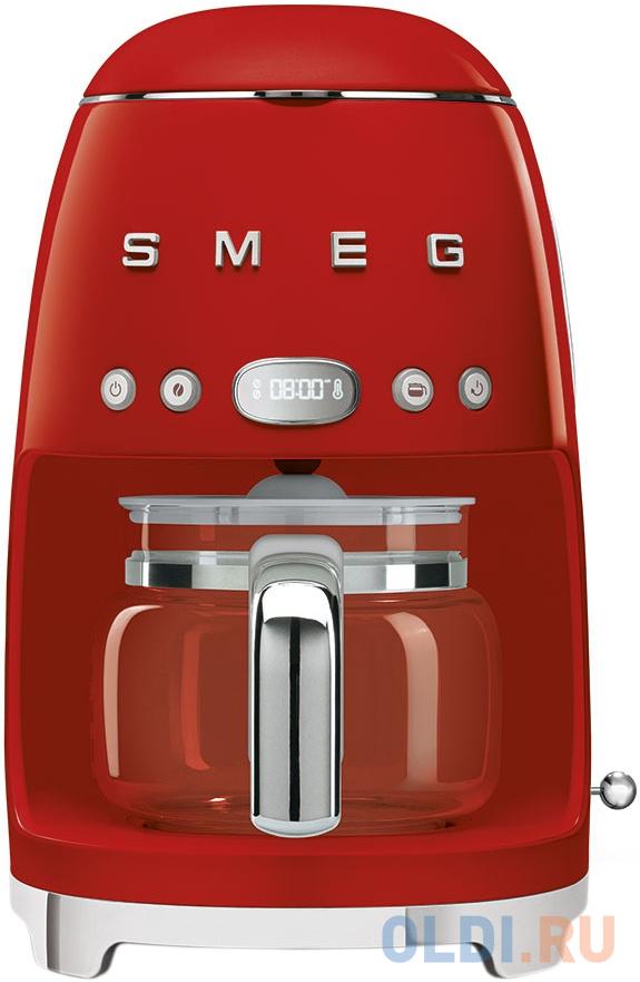 Капельная кофеварка SMEG/ стиль 50-х годов, 10 чашек, 1.4 л, красная