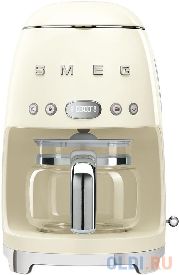 Кофеварки эспрессо SMEG/ Капельная кофеварка, стиль 50-х годов, кремовая