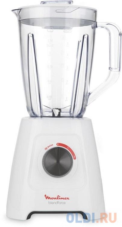 Блендер стационарный Moulinex LM420110 600Вт белый 11097 блендер с чашей 600вт 5пр лезвие нерж zm х6