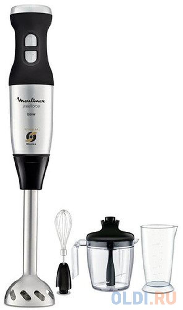 Блендер погружной Moulinex DD885D39 1000Вт чёрный серебристый погружной блендер moulinex dd650832 серебристый