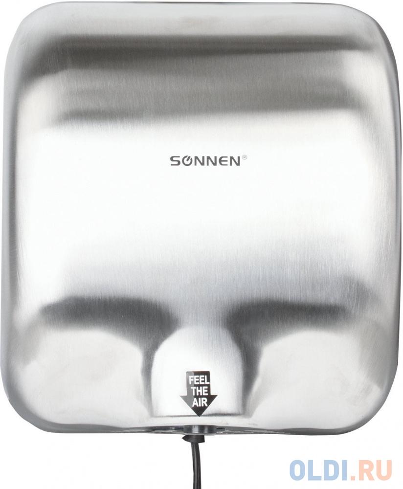 Сушилка для рук Sonnen HD-999 1800Вт серебристый сушилка для рук sonnen hd 798s 2300 вт время сушки 15 секунд нержавеющая сталь 604194