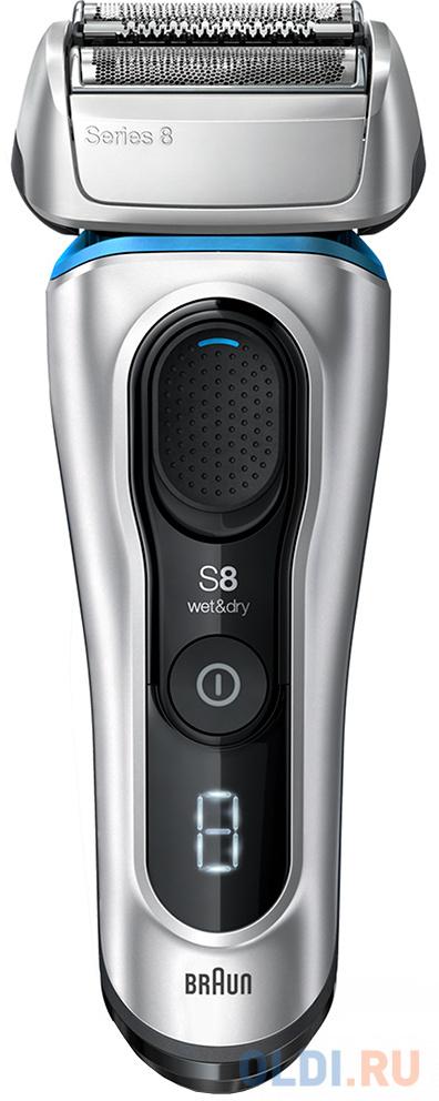 Бритва Braun Series 8 8330 серебристый электробритва braun series 8 8350s серебристый