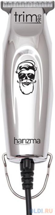 harizma расческа для мелирования h10650 Машинка для стрижки Harizma PRO Trim черный 4Вт (насадок в компл:3шт)