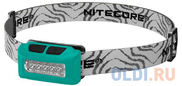 Фонарь налобный Nitecore NU10CRI зеленый/черный лам.:светодиод.x1 фото