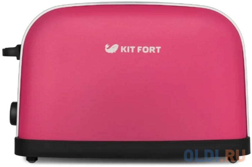 Тостер KITFORT КТ-2014-5 серебристый розовый тостер kitfort кт 2038 3 серый