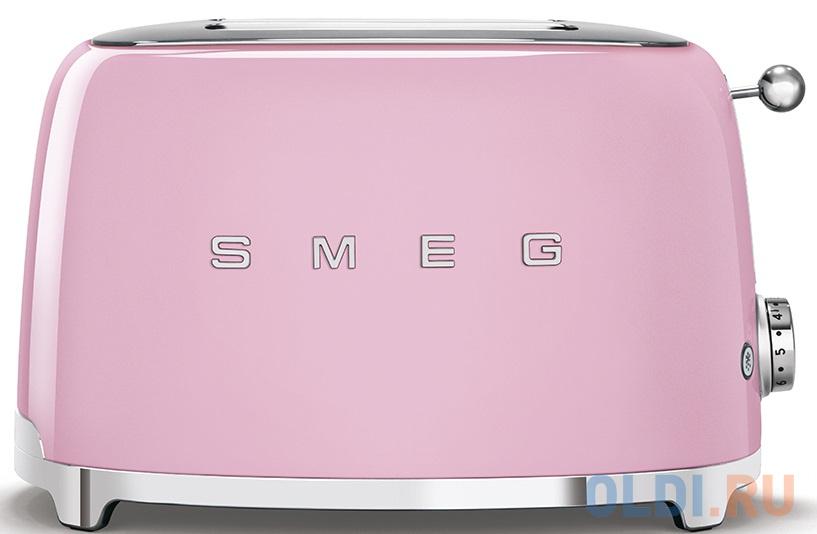 Фото - Тостеры SMEG/ Стиль 50-х г.г, 2 ломтика, корпус из нержавеющей стали, 6 уровней поджаривания, розовый тостеры и хлебопечки